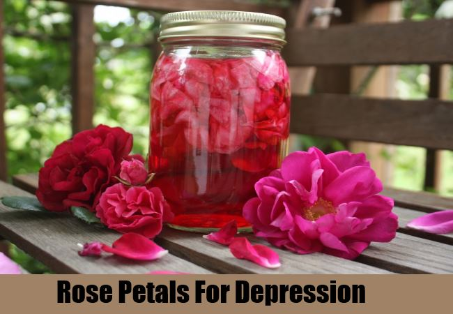 Rose petals for depression