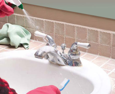 Clean Calcium Build-Up Off Of Faucets
