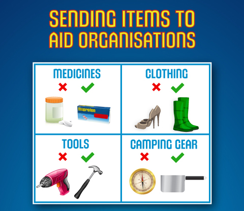 Sending Items To Aid Organisations