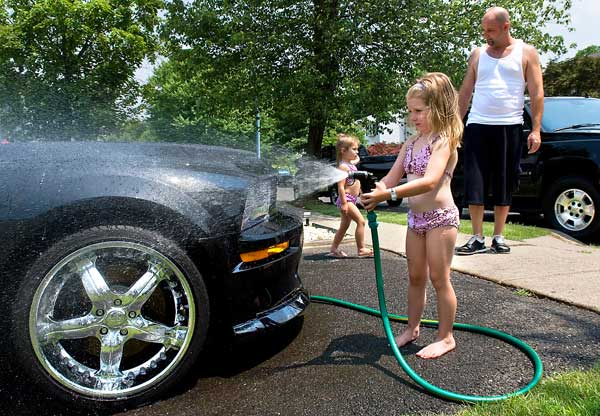 car wash with kids