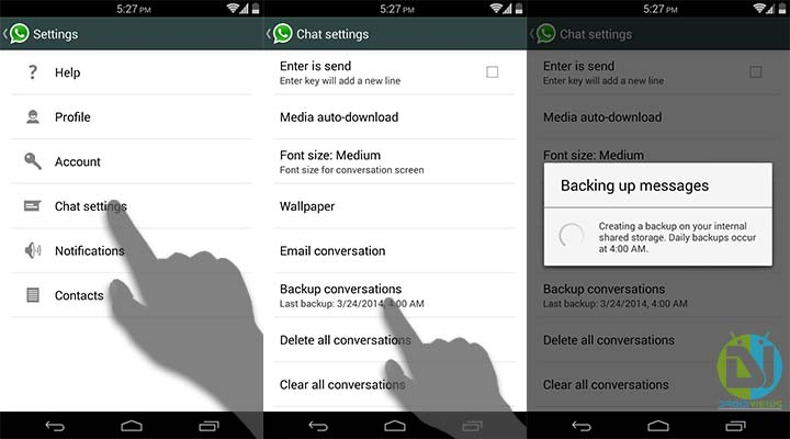 Backup Your WhatsApp Messages In Android