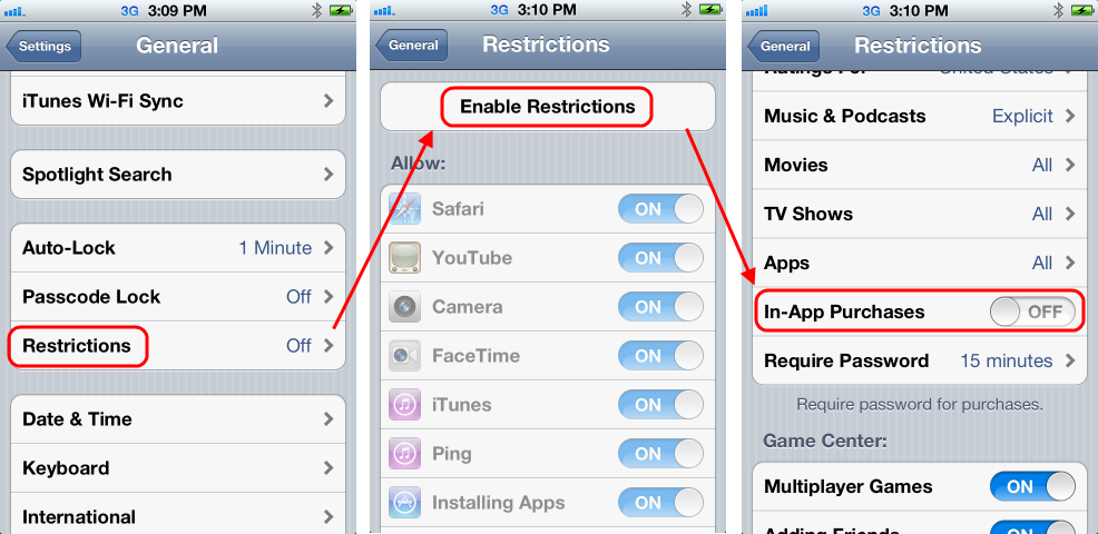 Disable In-App Purchases in iOS