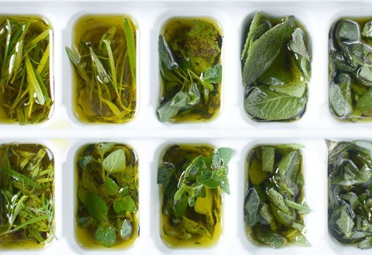 Store Your Fresh Herbs In Olive Oil