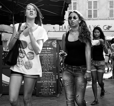 Girls in the street