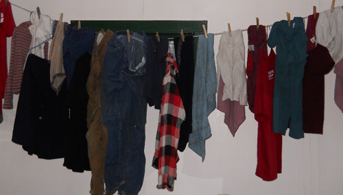 damp clothes