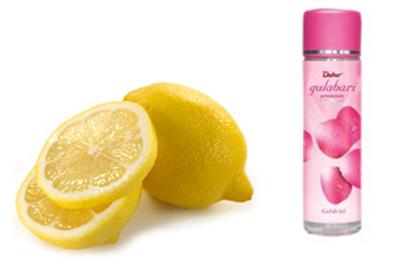 Lemon and rose water