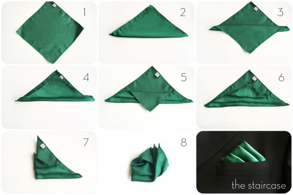 Stair Handkerchief Fold