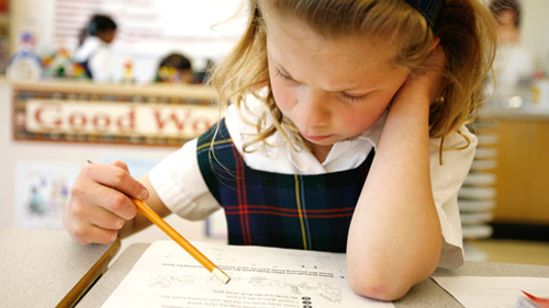 child adjust to private school