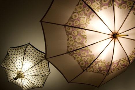 chandeliers old umbrella