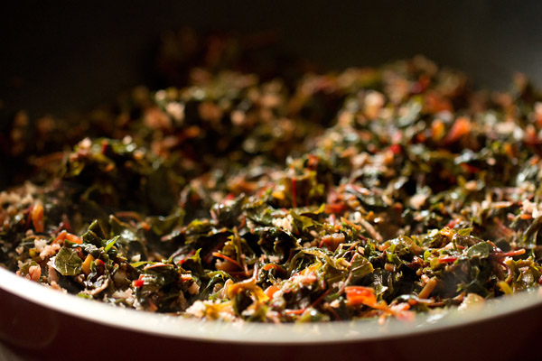 Red Amaranth Sabzi Recipe