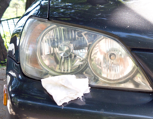 baby oil to clean foggy headlights