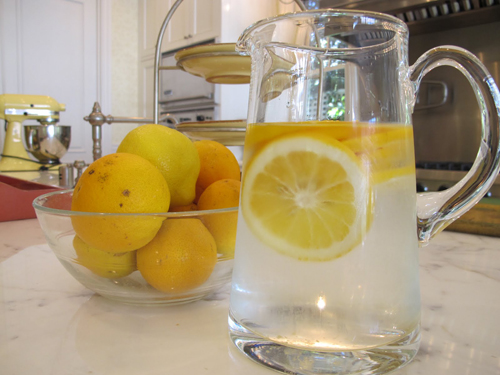 lemon alkaline water