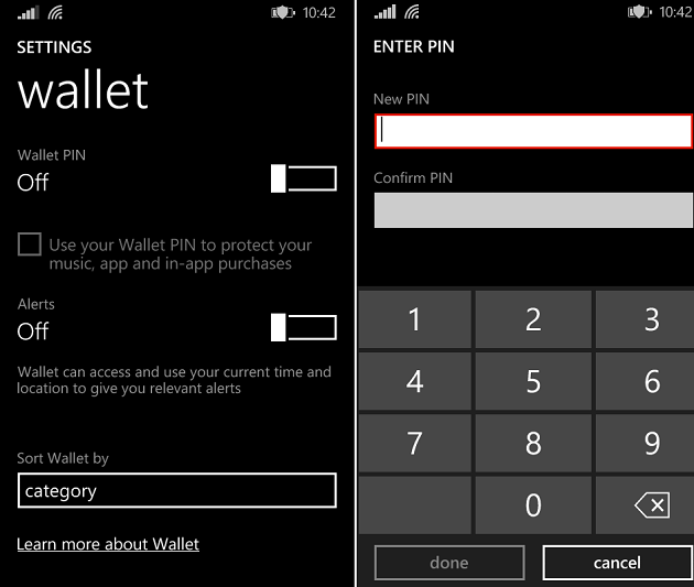 disable app purchase windows phone