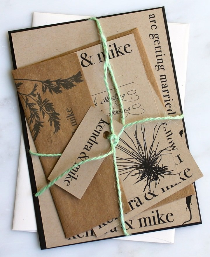 Recycled Invitations