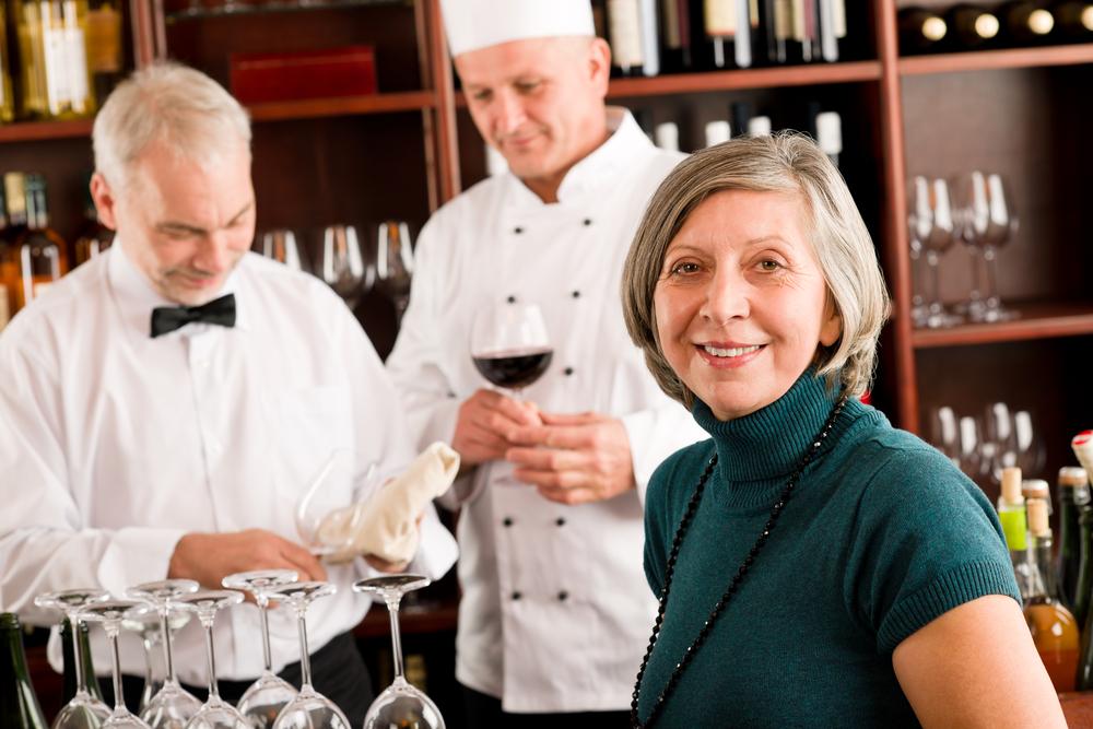 Staff and waiter