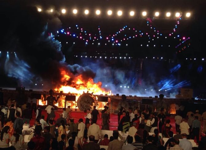 Fire at Corporate Event