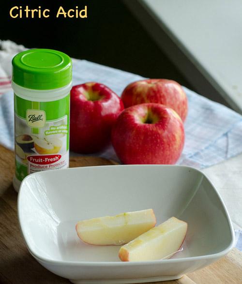 Citri Acid for preserving apple